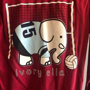 Ivory Ella volleyball long sleeve t-shirt, size XS
